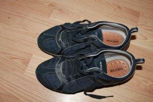 Geox echt Leder Damen Sneaker   Größe 37 Blau