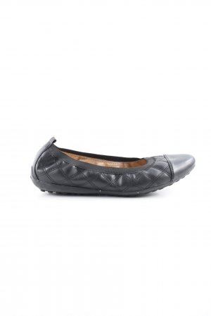 Geox Foldable Ballet Flats black quilting pattern casual look