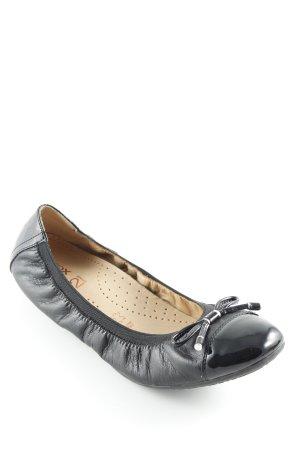 Geox faltbare Ballerinas schwarz Casual-Look