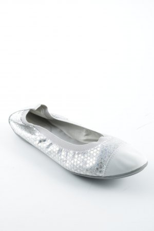 Geox Foldable Ballet Flats natural white-silver-colored casual look