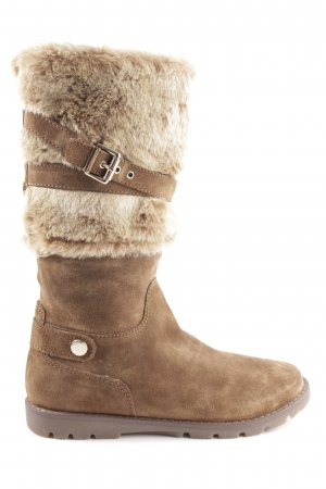 Geox Fur Boots bronze-colored casual look