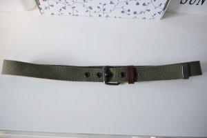 Geox Cinturón de lona verde oliva-caqui