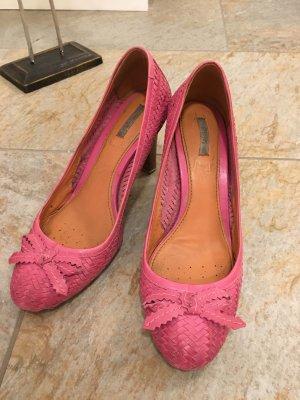 Geox High Heels Größe 38/39 in pink mit coolem Flechtstyle