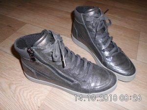 Geox High Top Sneaker aktuell in metallic/anthrazit Gr. 36 Neuwertig