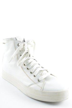 Geox High Top Sneaker weiß Casual-Look