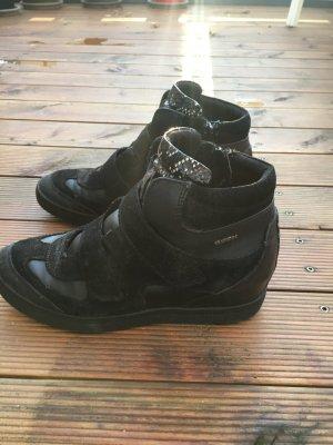 Geox Hightop Keilsneaker / Wedges black/velour