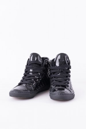 GEOX - Hightop-Sneakers in Lackoptik Schwarz