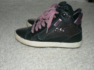 Geox Hohe Sneakers Jr Witty B High-Top Schwarz Leder