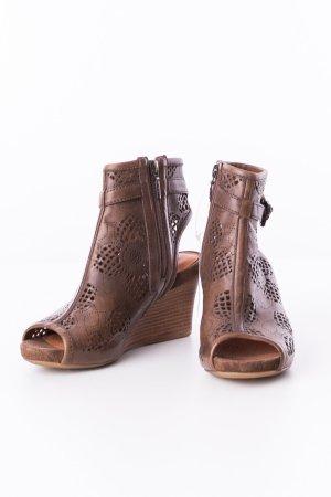 GEOX - Keil-Sandaletten Peep-Toes Braun Modell Iride