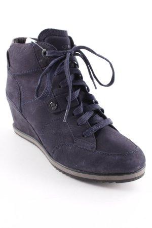 Geox Keil-Stiefeletten dunkelblau Casual-Look