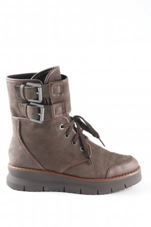 Geox Short Boots green grey-cognac-coloured extravagant style