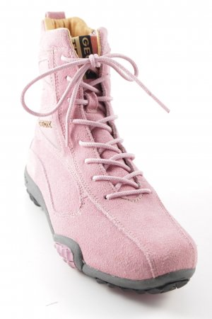 Geox Stivale a gamba corta rosa stile casual