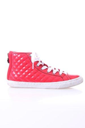 Geox Lack Sneaker in rot