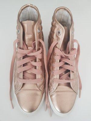 Geox Leder-Sneaker in rosé