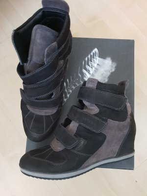 Geox Wedge Sneaker black-grey brown