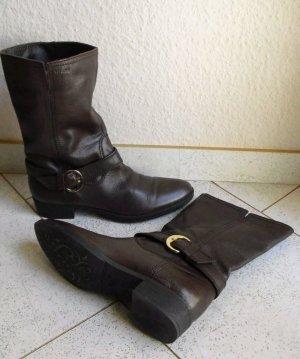 GEOX Leder Stiefel dunkelbraun