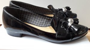 GEOX Loafer mit großen Quasten aus Lackleder in schwarz
