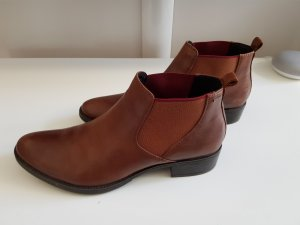 Geox Chelsea Boots cognac-coloured leather