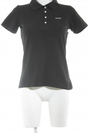 Geox Polo-Shirt schwarz Casual-Look