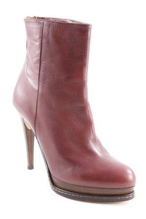 Geox Reißverschluss-Stiefeletten braunrot Street-Fashion-Look