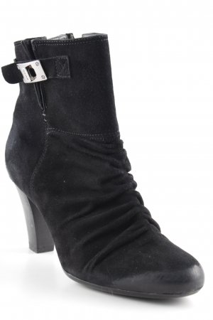 Geox Reißverschluss-Stiefeletten schwarz Casual-Look