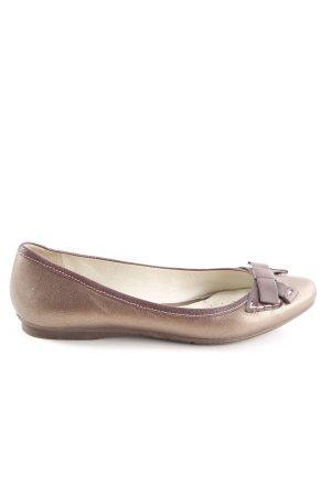 Geox Respira Ballerinas mit Spitze bronzefarben meliert Casual-Look