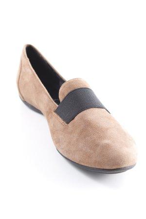 Geox Respira Ballerinas mit Spitze cognac-schwarz Samt-Optik
