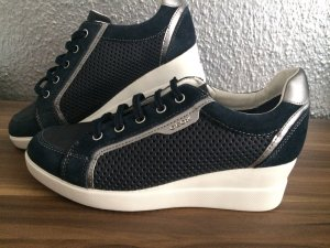 GEOX Respira Damen Boots Sneaker mt Absatz Keilabsatz Schuhe blau Gr.40 NEU