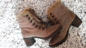 Geox Respira Ankle Boots grey brown leather