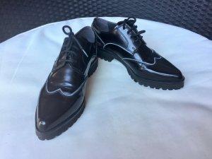 Geox Respira Derby-Schuhe. Schwarz. Business-Look. Gr. 36.