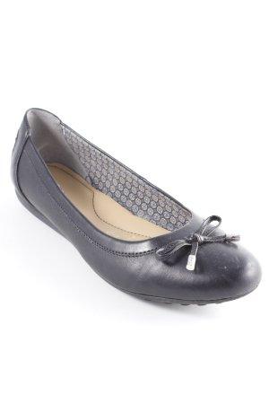 Geox Respira faltbare Ballerinas schwarz Elegant