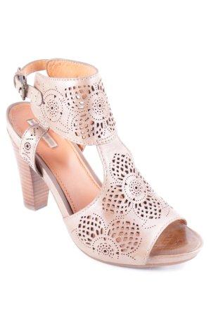 Geox Respira High Heel Sandal beige flower pattern elegant