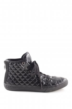 Geox Respira High Top Sneaker schwarz Steppmuster Casual-Look