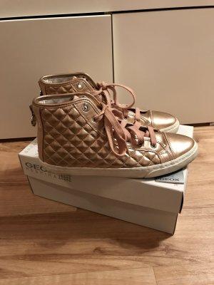 Geox Respira in gold Gr 39 | goldener Sneaker