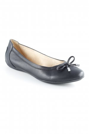 Geox Respira Lackballerinas dunkelbraun Business-Look