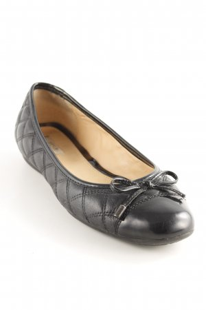 Geox Respira Patent Leather Ballerinas black quilting pattern casual look