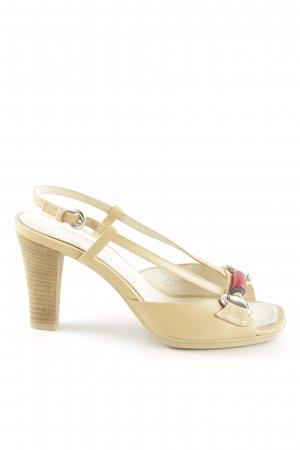 Geox Respira Peep Toe Pumps cream elegant