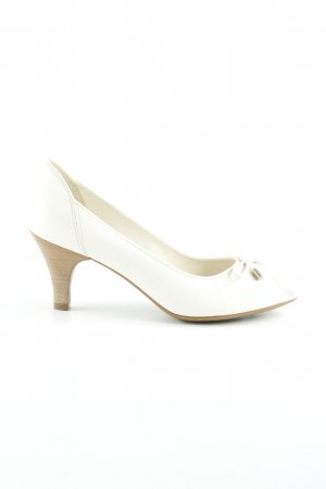 Geox Respira Peeptoe Pumps wollweiß-creme Business-Look