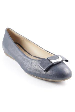 Geox Respira Riemchen Ballerinas graublau Casual-Look