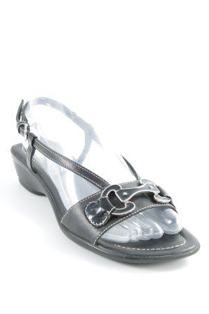Geox Respira Riemchen-Sandalen schwarz Casual-Look