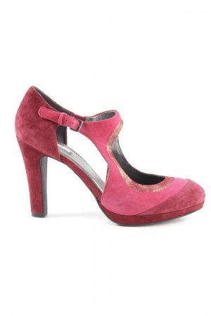 Geox Respira Riemchenpumps rot-goldfarben Party-Look