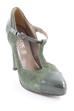 Geox Respira Riemchenpumps waldgrün-dunkelgrün 50ies-Stil