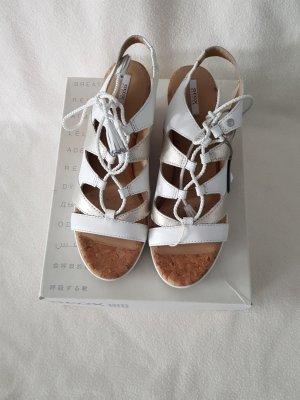 Geox Respira Sandales à plateforme blanc cuir