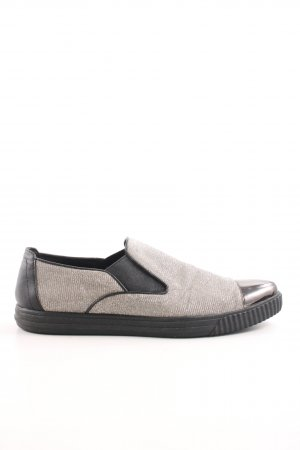Geox Respira Schlüpfsneaker silberfarben-schwarz Casual-Look