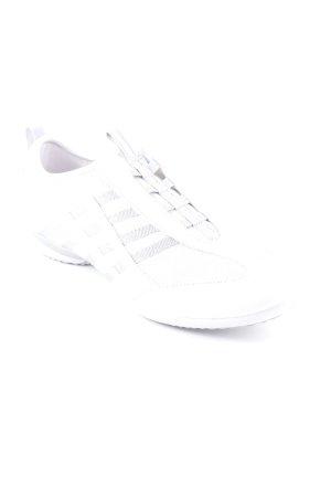 Geox Respira Schlüpfsneaker weiß-silberfarben Streifenmuster Casual-Look