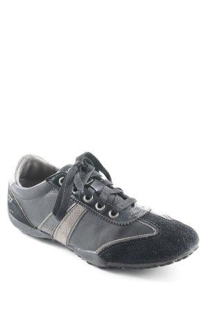 Geox Respira Schnürschuhe schwarz-dunkelgrau sportlicher Stil