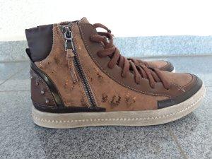 Geox Respira Sneaker braun/gold Gr.39 neuwertig
