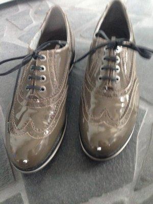 Geox Respira Sneaker Eletta Oxford Leder Schnürer wie neu