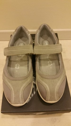 Geox Respira Basket velcro gris clair-gris cuir