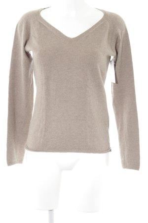 Geox Respira V-Ausschnitt-Pullover graubraun Casual-Look